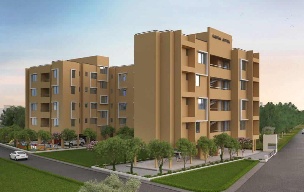 Ganga antra building 2bhk flats for sale kharadi pune - goelganga