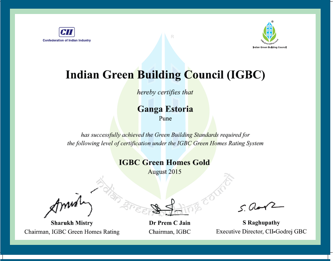 IGBC green homes gold - goelganga