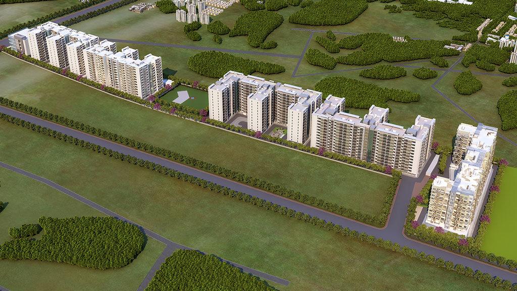 Ganga antra front 1bhk flats for sale kharadi pune - goelganga