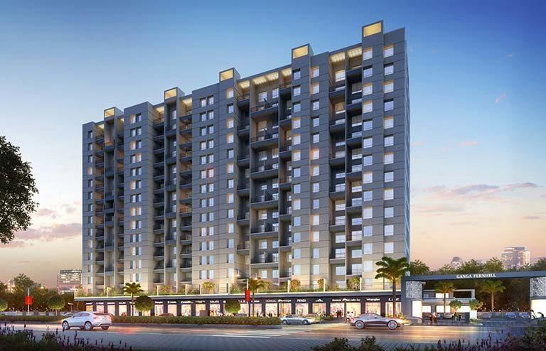 Ganga Fernhill undri pune flats for sale - goelganga