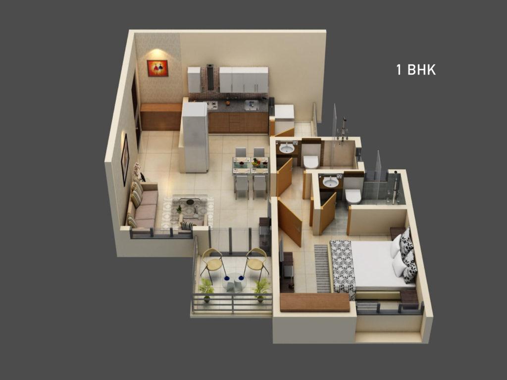 Ganga-Fernhill-unit-plan-(1-bhk)